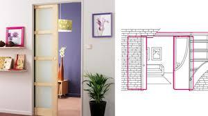 comment poser une porte de chambre pose d une porte coulissante magnifique installer porte coulissante