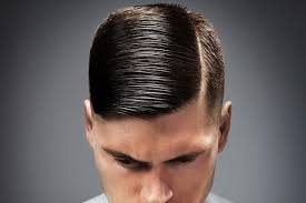 hair parting which side should men comb part their hair man of many
