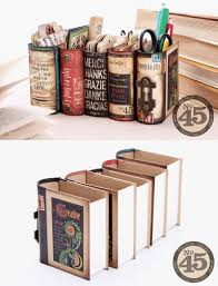 Diy Desk Organizer by Desk Organizers Made From Book Boxes And Graphics 45 Scrap Booking