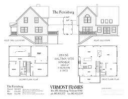 ferrisburg saltbox vermont frames