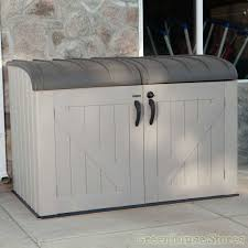 furniture large suncast deck box ideas in brown for patio