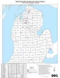 Map Michigan Michigan Fracking Map Michigan Map