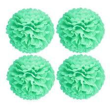 mint green tissue paper 16 cool mint green tissue paper pom poms flowers balls