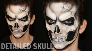 Halloween Makeup Man Realistic Skull U2014 Halloween Makeup And Face Painting Tutorial