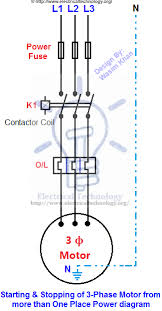 starting u0026 stopping of 3 phase motor from more than one