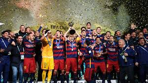 barcelona celebrate fifa club world cup title fifa