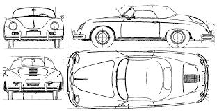 si e auto b auto porsche 356 b cabrio bild bild zeigt abbildung zeichnungen