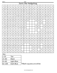 sonic the hedgehog advanced multiplication worksheet math