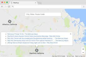 Palo Alto Zip Code Map by Mashup