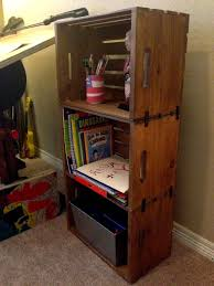 Making Wooden Bookshelves by Best 25 Milk Crate Shelves Ideas On Pinterest Crate Furniture