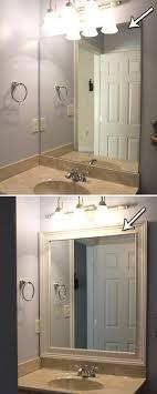 bathroom mirror trim ideas bathroom best mirror trim ideas on pinterest framed bathroom