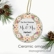 personalized ceramic ornaments monogramcase