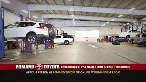 toyota shop romano toyota now hiring service technicians east syracuse ny