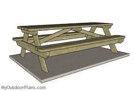 Wood Picnic Table Plans Free by Amazing Of 8 Ft Wood Picnic Table 8 Foot Picnic Table Plans