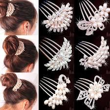 hair comb accessories lnrrabc rhinestone women bridal hairpin headdress simulated pearl