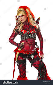 body painting halloween costumes devil go go dancer body stock photo 88891042 shutterstock