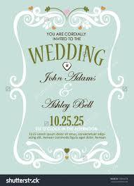 wedding invatation border magnificent wedding invitation card design stock vector