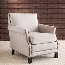 linen club chair safavieh mercer collection charles beige linen club