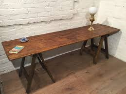 reclaimed pine trestle dining table 20th c reclaimed pine trestle 8ft antique hand made reclaimed pine floorboards old pine trestle table photo 18ft antique hand made reclaimed pine floorboards old8 ft dining table butcher