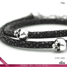 leather bracelet with sterling silver images 2014 new arrival thailand stingray bracelet handmade stingray jpg