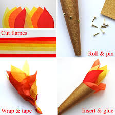 9 creative crafts for the olympics torches olympics and craft