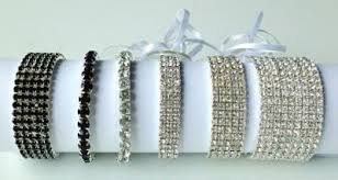 corsage wristlets sparkling silver rhinestone corsage wristlet glam wedding