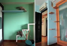 Wooden Designer Shelf Pet Society by Singapore Flat Has Cats Living In Style U2022 Hauspanther