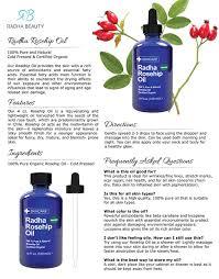 amazon com radha beauty rosehip oil 4 oz usda certified organic
