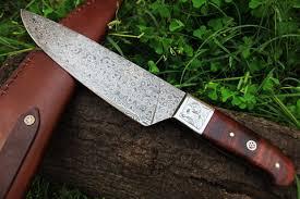 dkc 198 zen chef master damascus chef kitchen knife tanto bowie