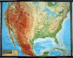 United States Map Wall Art by Large Extreme Raised Relief Map Of Contiguous Usa