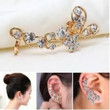 jual ear cuff okdeals women ear sweep wrap gold ear climber leafs ear cuffs