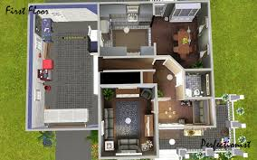 2 Bedroom Homes by Mod The Sims U00273 Bedroom Green Country Style House U0027 Ts3 Remake