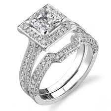 square engagement rings with halo engagement rings