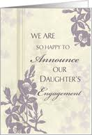 engagement announcement cards engagement announcements from parents of from greeting card