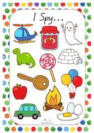 i spy alphabet game cards a l initial sounds i spy and the