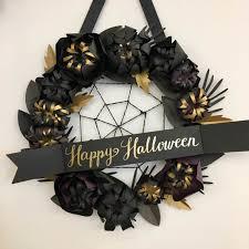 halloween wreath a diy halloween wreath from paper source