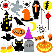 colorful halloween festival theme icons design elements royalty