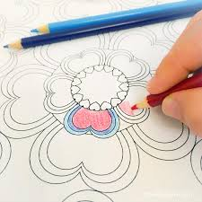 mommy coloring pages heart flowers valentines