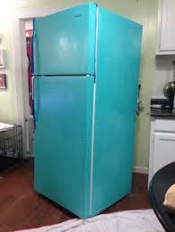 how to make your fridge look like a cabinet diy painted refrigerator mini fridge retro and paint refrigerator