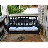 amazon com wicker porch swings patio seating patio lawn