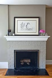 paint colors living room red brick fireplace dark gray painted