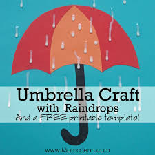 umbrella craft with raindrops