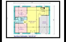 plan maison plain pied 2 chambres garage plan maison 2 chambre salon cuisine