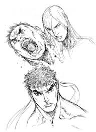 quick sketches ryu hulk and remy by alvinlee on deviantart