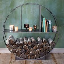 Outdoor Fireplace Accessories - iron circle log holder log holder logs and iron