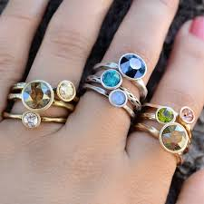 rings set images Circle stacking rings set by sweet romance jpg