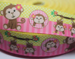 monkey ribbon monkey ribbon etsy