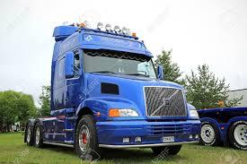 volvo truck tractor alaharma finland august 7 2015 blue volvo nh12 truck tractor
