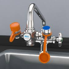 eyewash station faucet mount personal with diverter