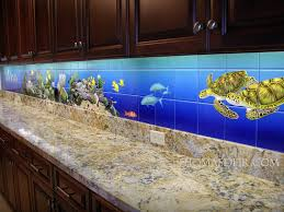 Kitchen Tile Backsplash Murals by Tropical Fish Kitchen Tile Murals Deir Honolulu Hi Artist